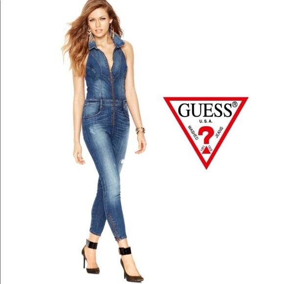 81625234716 Guess Pants - Guess Denim Jumpsuit